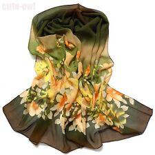 Floral Print Chiffon Wrap Shawl  Scarf