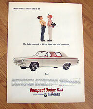 1964 Dodge Dart Ad Baseball Theme My Dad's Compact is Bigger than Your Dad's