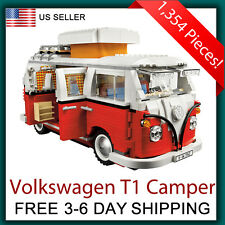 Volkswagen T1 Camper Van - Compatible with Lego 10220 Creator Set
