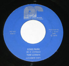 "Tom Lennik 7"" 45 DJ PROMO HEAR PRIVATE GARAGE ROCK Echo Park PRO-GRESS 1975"