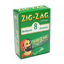 1 Multipack box of 8 packets ZIG ZAG CIGARETTE PAPERS 70mm Size - 50 sheets each