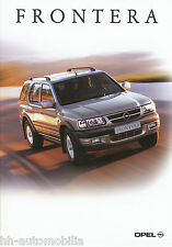Opel Frontera Prospekt 9/01 brochure Autoprospekt Auto Pkw Geländewagen 2001