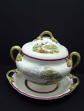 Rare Spode Copeland Red Herring Hunt The Hunt Tureen with Lid & Underplate