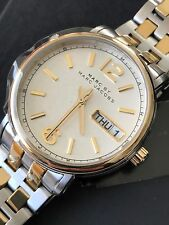Marc by Marc Jacobs MBM8652 Womens Two-Tone Stainless Steel Watch Day Date NWT