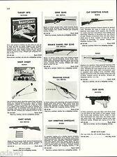1956 ADVERT All Metal Marx Cap Gun Rifle Pop Guns Cork Mattel Burp