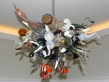 Blown Glass Chandelier - Coral Reef - Chandelier - Lighting - Art Glass Lighting
