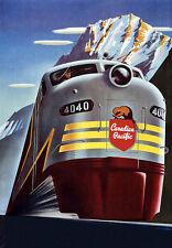 Canadian pacific train chemin de fer de voyage vacances A3 art poster print
