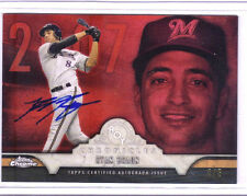 2016 TOPPS CHROME RYAN BRAUN ROY CHRONICLES ON CARD AUTO RED #4/5 SSP
