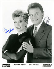 REPRINT - VANNA WHITE PAT SAJAK 1 Wheel of Fortune autograph signed photo