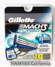 GILLETTE MACH3 Turbo Razor Blades,10 Cartridges,Original package, #014B
