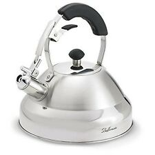 Bellemain 2.75 Quart Surgical Stainless Steel Whistling Kettle with Aluminum ...