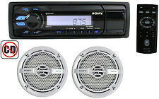 "Sony DXS-M5021BT Marine Digital Media Bluetooth Receiver + 2) 6.5"" 160W Speakers"