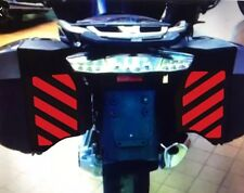 RED REFLECTIVE PANNIER SAFETY CHEVRONS BMW R1200RT WATER-COOLED 2014 ONWARDS