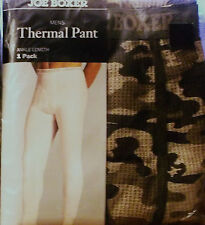 "MEN'S THERMAL UNDERWEAR JOE BOXER PANTS BOTTOMS CAMO KHAKI TAN BROWN XL 40""-43"""