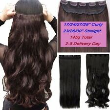 "100% Thick Clip In Hair Extensions 3/4 Full Head Hair Extentions 17-30"" Long USA"