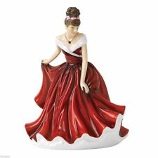 Royal Doulton 2013 Pretty Ladies January Garnet Birthstone Figurine HN5626