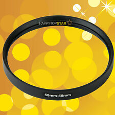 58-58mm Female to Female Double Dual inner thread 58 and 58 mm Lens Ring Adapter