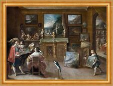 A visit to the art dealer Frans II Francken images peintures professions B a3 01880