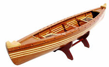 "Canadian canoe Ship Model 24"" - Handcrafted Wooden Ship Model"