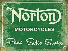 15x20cm Norton Parts Sales Service vintage enamel style advertising bike sign