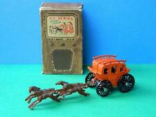 VINTAGE 1954 BOXED BENBROS DIECAST QUALITOY TV SERIES KANSAS STAGE COACH No.4