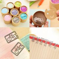 20PC Mini Steel Bookmark Clip Animals Book Marker Stationery Clip Boxes Randomly