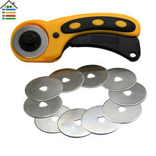 45mm Circular Cut  Sewing Fabric Leather Craft Rotary Cutter with 10pc Blades