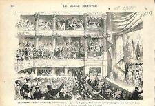 LE HAVRE CONCOURS DE TIR Shooting competition Cloture ANTIQUE PRINT GRAVURE 1874