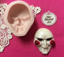 Halloween SAW silicone mold fondant cake wax soap food decorating cupcake molds