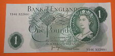 GB : BANK OF ENGLAND ONE POUND PAGE.