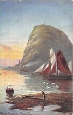 BR60283 dumbarton castle ship bateaux  painting postcard   scotland