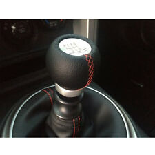 6 Speed R Leather Black Car Manual Gear Shifter Shift Knob For Toyota TRD
