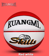 New Kuangmi Colorful Basketball Junior Kids Children Basket Ball Size 5 Red whit