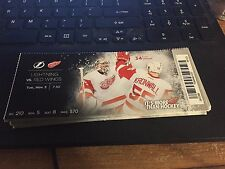 2015 DETROIT RED WINGS VS TAMPA BAY LIGHTNING TICKET STUB 11/3 PETR MRAZEK