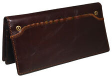 Men's Leather Wallet Leather Long Purse 11 Credit Card Holders Vintage Style