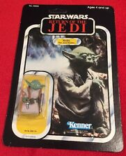 Star Wars 1983 Return Of The Jedi ROTJ Yoda MOC Brown Snake Variant - UPC Peeled