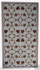 "30""x48"" Marble Dining Table Top Carnelian Mosaic Floral Art Christmas Gift Decor"