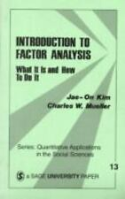 Introduction to Factor Analysis: What It Is and How To Do It (Quantita-ExLibrary