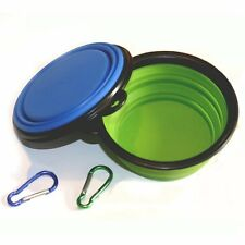 Comsun 2pack Collapsible Dog Bowl, Food Grade Silicone BPA Free FDA Approved,