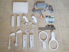 Nintendo Wii Konsole mit Riesen Sports Set + 2 Remotes + Wii Sports & Extras #