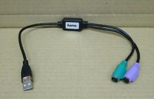 HAMA Male USB to Female Mini DIN 6-Pin x2 KVM Mixed Cable Assembly 39709