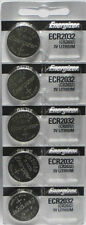 5Pcs Energizer ECR2032 (CR2032) 3V Lithium Coin Batteries
