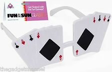 POKER FACE SUNGLASSES FANCY DRESS PARTY FUNNY JOKE MENS BOYS CHRISTMAS GIFT