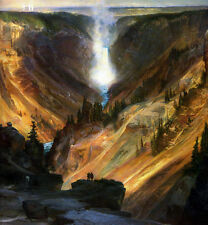 Large Oil painting Thomas Moran - The Grand Canyon of the Yellowstone landscape
