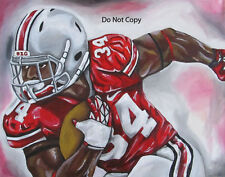 Carlos Hyde Ohio State Painting signed