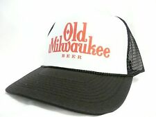 Vintage Old Milwaukee Beer Trucker Hat Mesh Hat Snap Back Hat black NEW