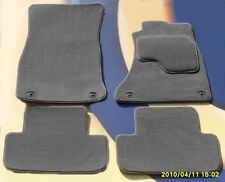AUDI A4 2011 on  GREY PREMIER CAR FLOOR MATS WITH 4 ROUND CLIPS