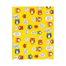 Timeless Treasures Fabric - School Owls - Yellow - 100% Cotton