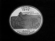 2004 S SILVER IOWA STATE  QUARTER FROM SILVER PROOF SET