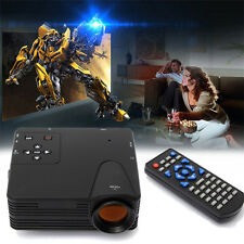 Mini HD 1080P Multimedia LED LCD Projector Home Cinema PC AV VGA USB HDMI TV Hot